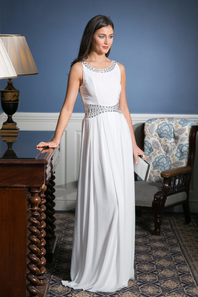 Ashley White Grecian Maxi Dress - LadyVB   s.r.o - 1