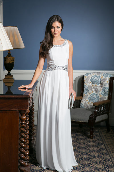 Ashley White Grecian Maxi Dress - LadyVB   s.r.o - 2