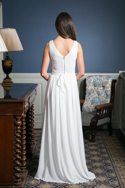 Ashley White Grecian Maxi Dress - LadyVB   s.r.o - 3