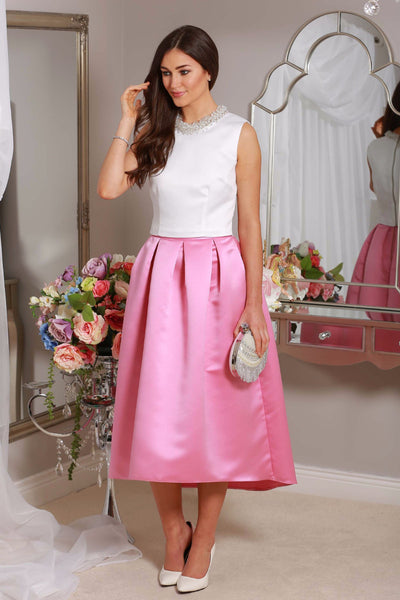 Julie High Satin Skirt - LadyVB   s.r.o - 1