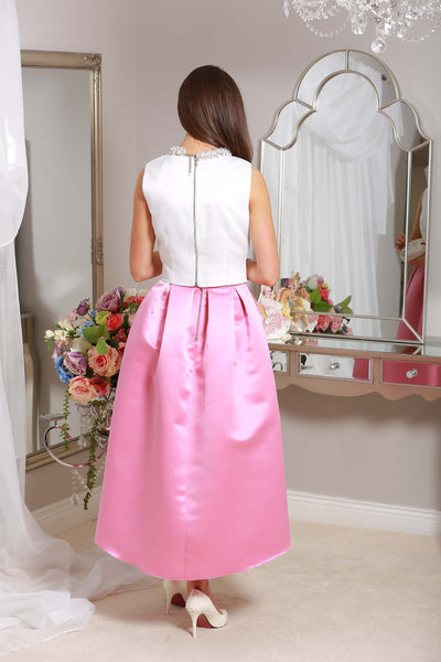 Julie High Satin Skirt - LadyVB   s.r.o - 3
