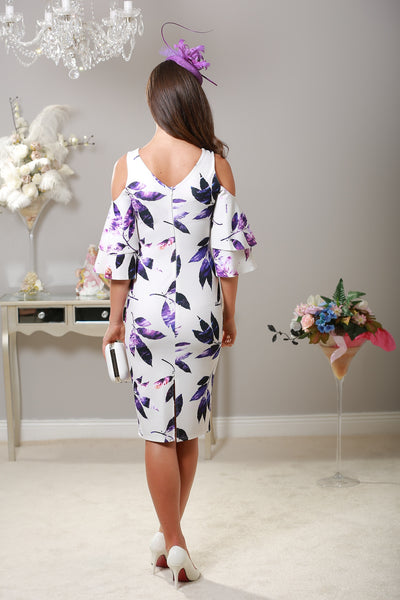 Lana Cold Shoulder Floral Dress - LadyVB   s.r.o - 4