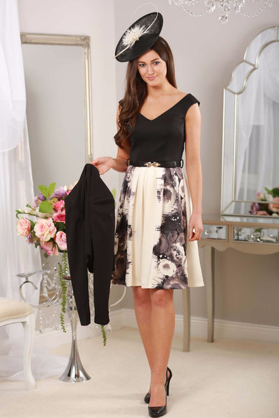 ROSE PRINT FIT AND FLARE DRESS - LadyVB   s.r.o - 1