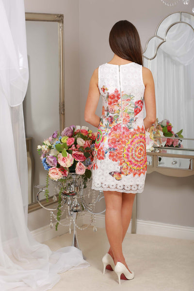 Mary Orange Lace Print Dress - LadyVB   s.r.o - 2