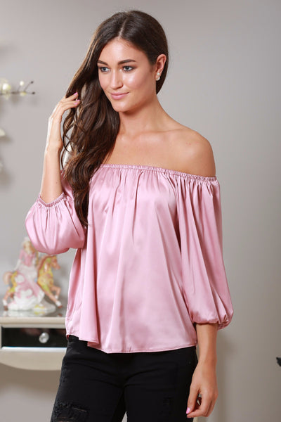 Lucy Silk Feel Off The Shoulder Top - LadyVB   s.r.o - 1