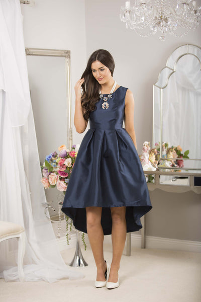 Navy Dip Back Dress - LadyVB   s.r.o - 13