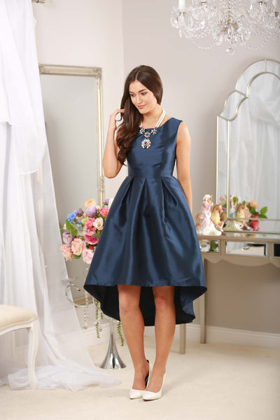 Navy Dip Back Dress - LadyVB   s.r.o - 15