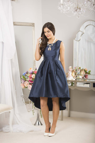 Navy Dip Back Dress - LadyVB   s.r.o - 8