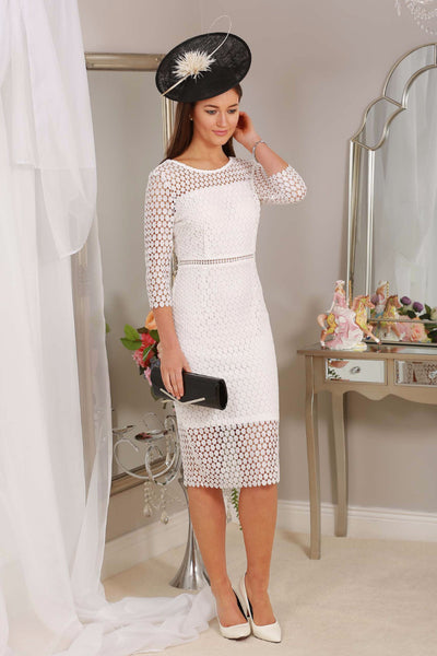 Nadine White Midi Dress - LadyVB   s.r.o - 1
