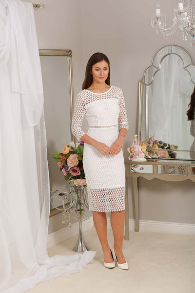 Nadine White Midi Dress - LadyVB   s.r.o - 2