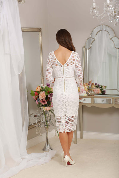Nadine White Midi Dress - LadyVB   s.r.o - 3