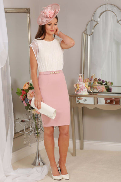 Cream Lace and Blush Dress - LadyVB   s.r.o - 1
