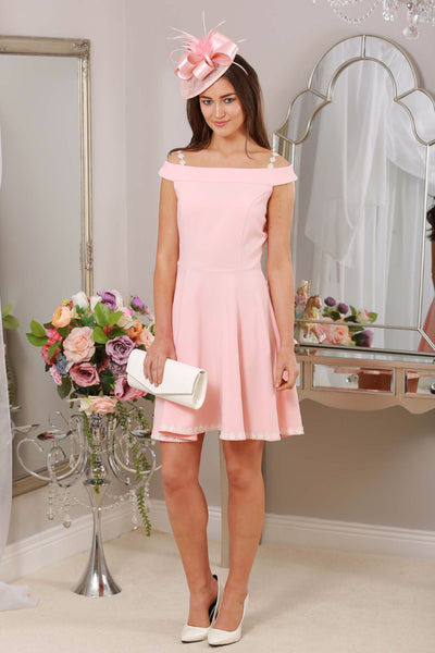 Dina Daisy Dress Pale Pink - LadyVB   s.r.o - 1