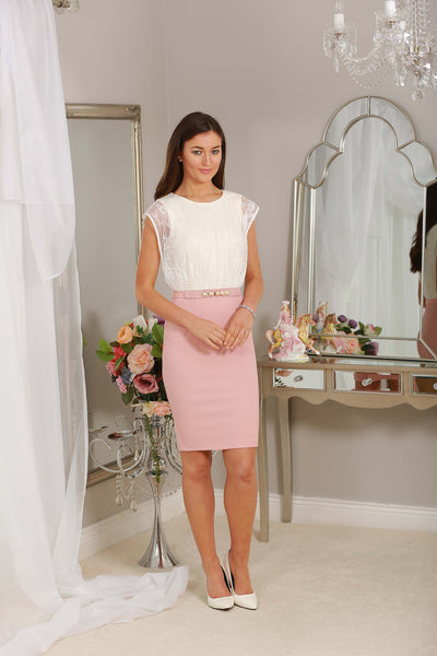 Cream Lace and Blush Dress - LadyVB   s.r.o - 2