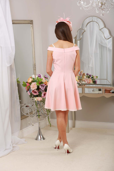 Dina Daisy Dress Pale Pink - LadyVB   s.r.o - 2