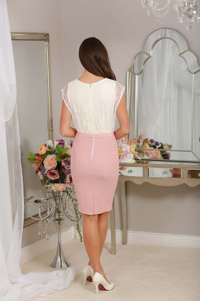 Cream Lace and Blush Dress - LadyVB   s.r.o - 3