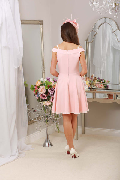 Dina Daisy Dress Pale Pink - LadyVB   s.r.o - 3