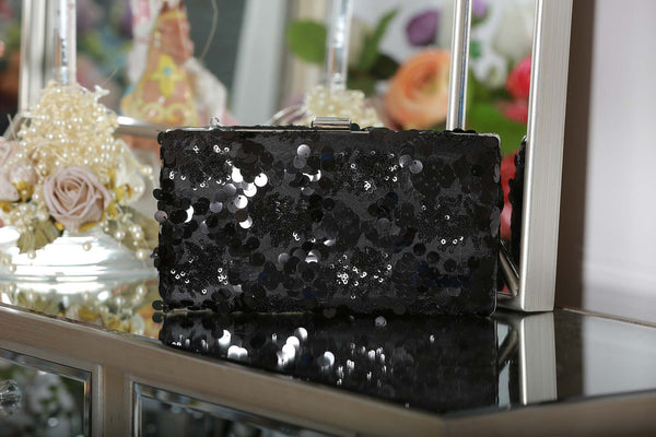 Black Sequin Clutch Bag - LadyVB   s.r.o - 2