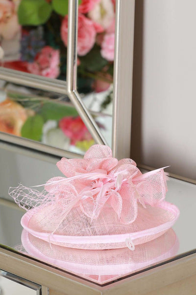 Baby Pink Clip on fascinator - LadyVB   s.r.o - 2