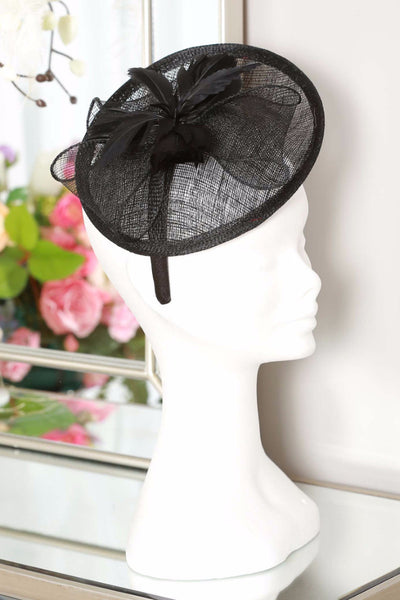 Black Disc Fascinator - LadyVB   s.r.o - 4
