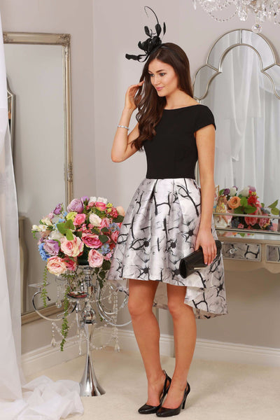 Lily Black and Grey Print Dress - LadyVB   s.r.o - 1