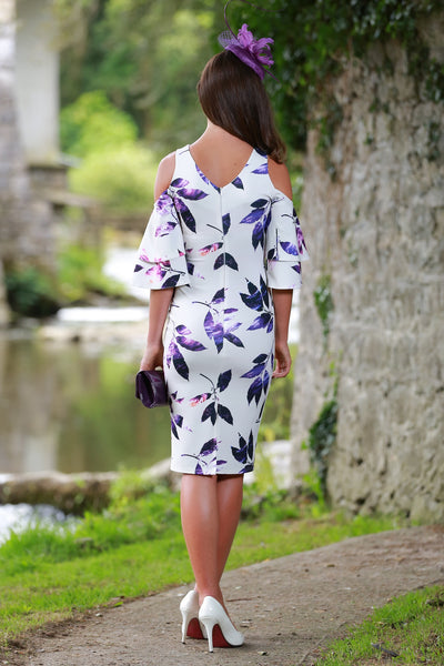 Lana Cold Shoulder Floral Dress - LadyVB   s.r.o - 3
