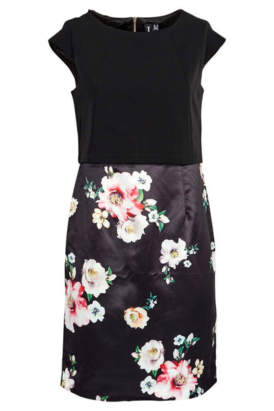 Nicola Black & Floral Two-In-One Contrast Dress - LadyVB   s.r.o - 2