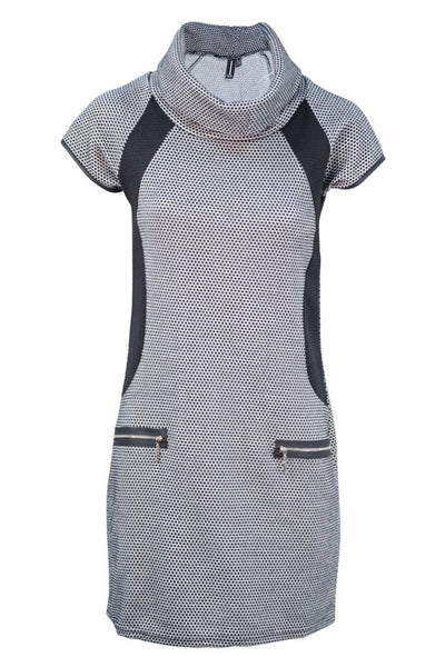 Edessa Grey Roll Neck Tunic - LadyVB   s.r.o - 4