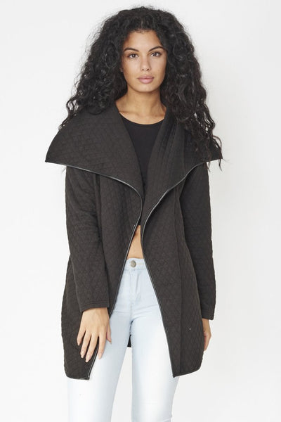 Saoirse Quilted Waterfall Jacket - LadyVB   s.r.o - 1