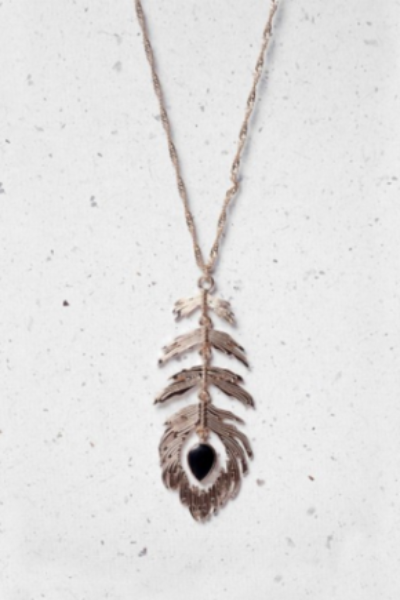 Feather Black Necklace - LadyVB   s.r.o