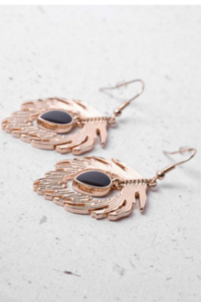 Gold and Black Earrings - LadyVB   s.r.o