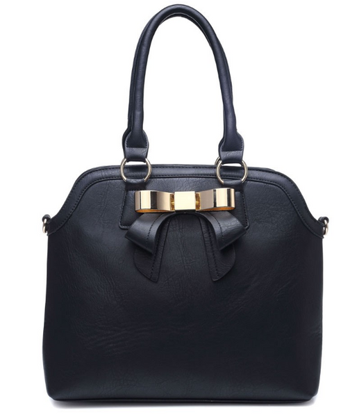 Black with Front Bow Handbag - LadyVB   s.r.o - 1