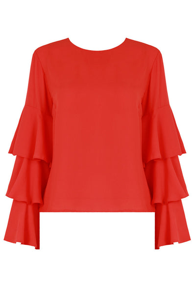 Emily Coral Bell Sleeve Top - LadyVB   s.r.o - 3