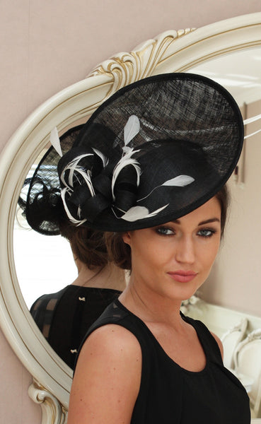 Jane Black and White Fascinator - LadyVB   s.r.o - 1
