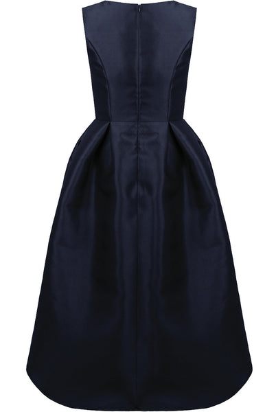 Navy Dip Back Dress - LadyVB   s.r.o - 11