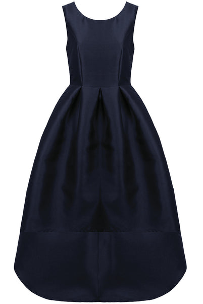 Navy Dip Back Dress - LadyVB   s.r.o - 9