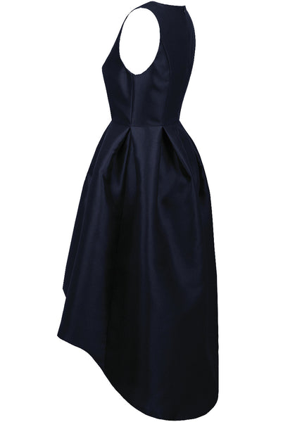 Navy Dip Back Dress - LadyVB   s.r.o - 10