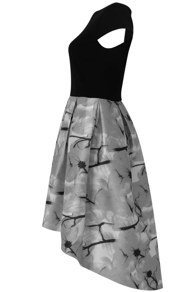 Lily Black and Grey Print Dress - LadyVB   s.r.o - 6