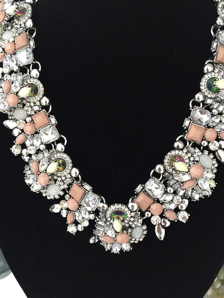 Ashleigh Dusty Pink Jewel Necklace - LadyVB   s.r.o - 2