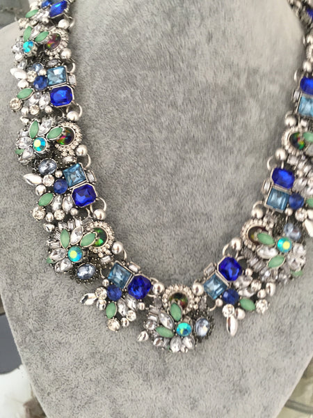 Ashleigh Blue and Teal Jewel Necklace - LadyVB   s.r.o - 3