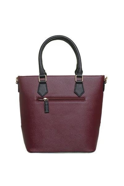 Jenna Two Tone Plum and Black Tall Handbag - LadyVB   s.r.o - 2