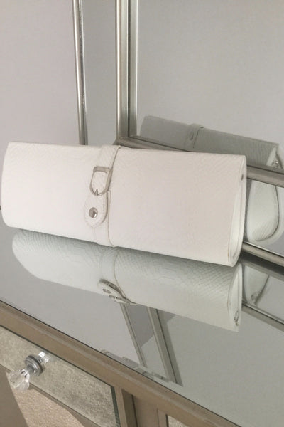 White Clutch Bag With Buckle - LadyVB   s.r.o - 1