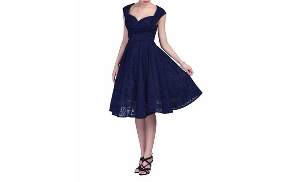 Marissa Navy Lace Midi Dress - LadyVB   s.r.o - 8
