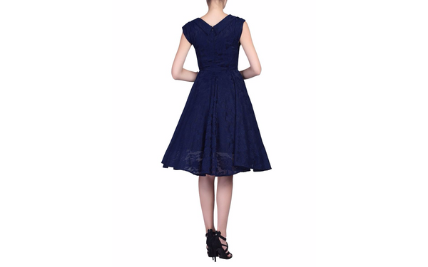 Marissa Navy Lace Midi Dress - LadyVB   s.r.o - 7