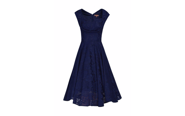 Marissa Navy Lace Midi Dress - LadyVB   s.r.o - 4