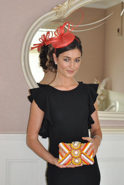 Holly Coral Fascinator - LadyVB   s.r.o - 4