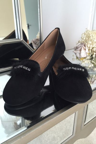 Carrie Black Fur Pump - LadyVB   s.r.o