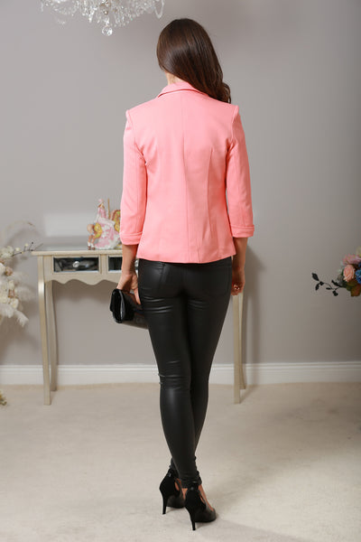Coral Mandy Tailored Blazer - LadyVB   s.r.o - 4