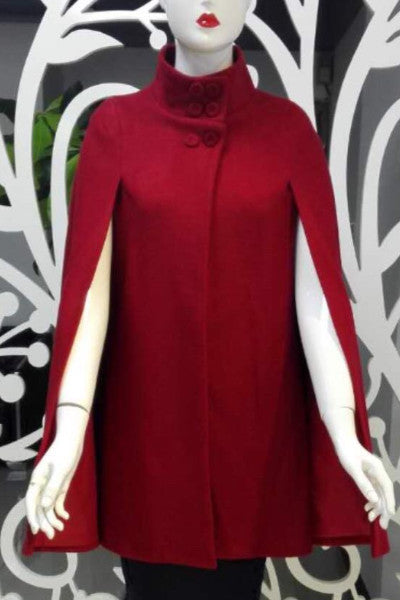 Roma Red Cape Coat - LadyVB   s.r.o - 4