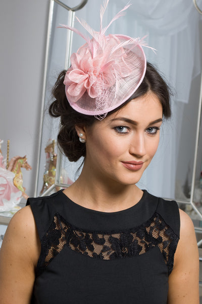 Baby Pink Clip on fascinator - LadyVB   s.r.o - 1